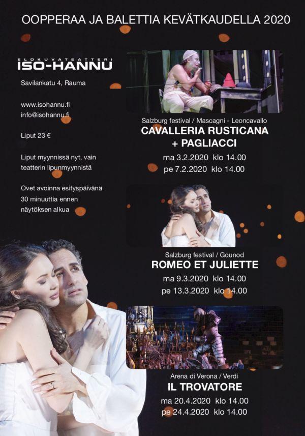 Ooppera: Cavalleria Rusticana / Pagliacci